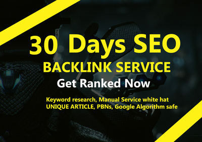 30 Days SEO Linkbuilding Service, Manual White Hat