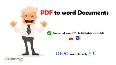 transcript your PDF file into editable Word document