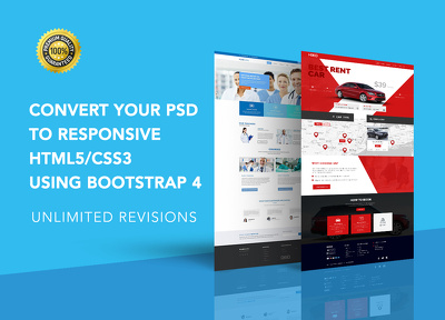 convert Your PSD to Responsive HTML5/CSS3 Using Bootstrap 4