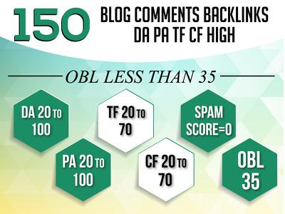 Do 150 blog comments backlinks