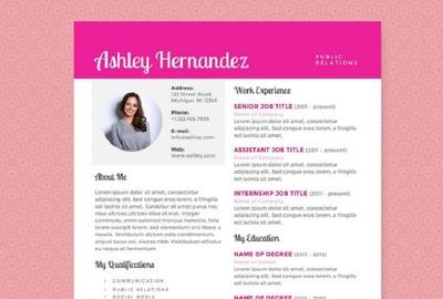 Design creative resume or cv