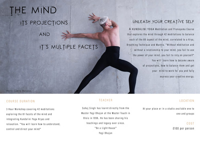 Teach a full meditation course on the mind and it's facets