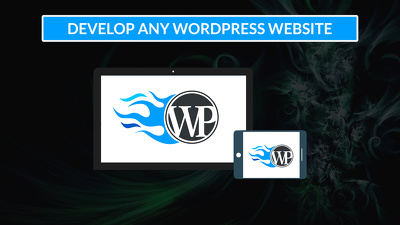 develop any wordpress website