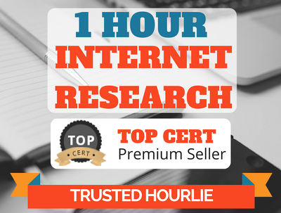 Offer 1 hour of internet/web research for your business.
