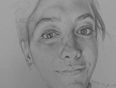 Draw a realistic pencil portrait