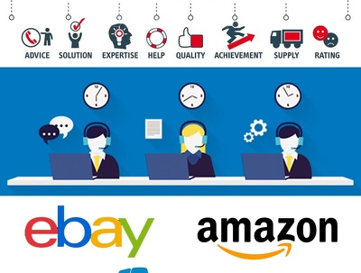 1 Hour Customer Service / Messages for eBay & Amazon businesses