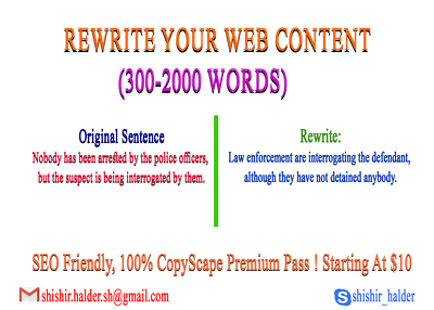 Rewrite your web content, SEO friendly!