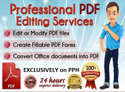 PDF Conversion / Edit PDF / Create Fillable Pdf Form