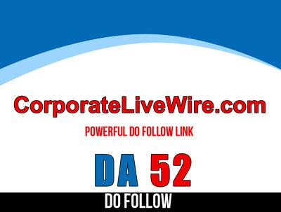 Guest post on CorporateLiveWire – CorporateLiveWire.com DA 61