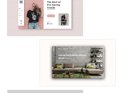 Design a website homepage / landing page