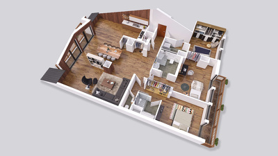 Change over your 2D plan to a 3D FLOOR design