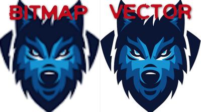 Redraw your bitmap logo/image as a hi res vector