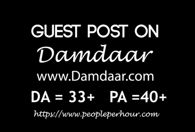 Write and publish Guest post on news blog Damdaar. com
