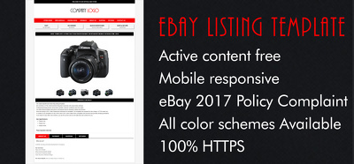 Design a responsive professional eBay listing auction template