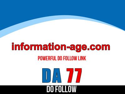 Guest post on information-age – information-age.com – DA 77