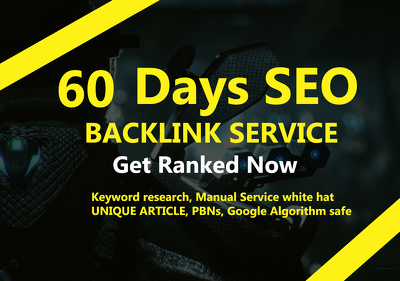 60 Days SEO Linkbuilding Service,Manual White Hat,Google Ranking