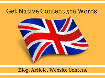 Write Blog and Article on Any Subject in UK English