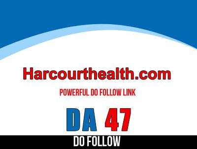 Publish guest post on HarcourtHealth.com– HarcourtHealth – DA 47