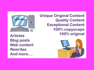 Provide quality, UNIQUE 500 word articles for websites or blogs.