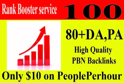 80+ High (DA) and (PA)  PBN SEO Backlinks must boost your Websit