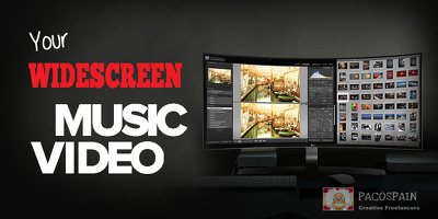 Create professional widescreen music video
