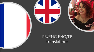 Translate 500 word documents (or more) ENG/FR or vice-versa