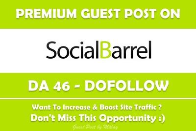 Publish Guest Post on Socialbarrel.com - DA 46