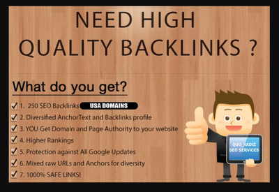 Improve Youtube SEO with safest 250 High Quality Backlinks