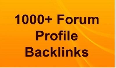 Create 1000+ HQ Forum profiles backlinks for your Google Rank