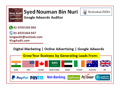 Audit your adwords account and provide suggestions
