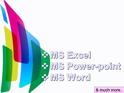 Do MS office related all type of works within 1 day delivery