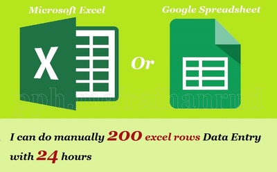 Do manually 200 excel rows data entry