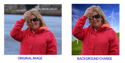 Completely transform the background of your picture