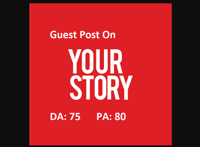 I will publish guest post on yourstory DA75