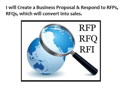 Create a business proposal and respond to RFP/RFQ which converts