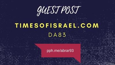 Guest post on timesofisrael.com DA83 authority news site