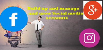 Build up and manage and grow Social media accounts