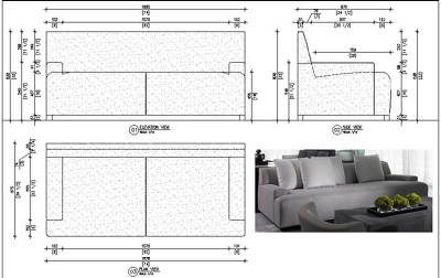Draft your furniture sketch, photo to technical cad shop drawing