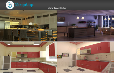 Do Interior Rendering of Kitchen