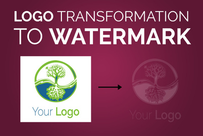 Transform your logo to transparent watermark