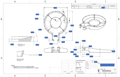 Create 2D manufacturing drawings of your product