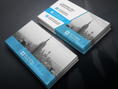 Make logo and amazing double side business cards within 1day