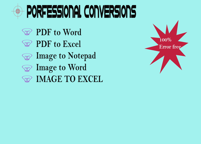 Make conversion of your secret, official documents in all