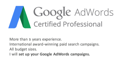 Set up up your Google AdWords campaign