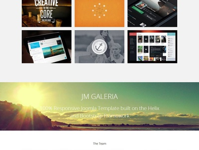 One page HTML Parallax Website