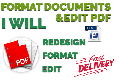 Format Documents Convert PDF To Word, Create Forms Edit PDF