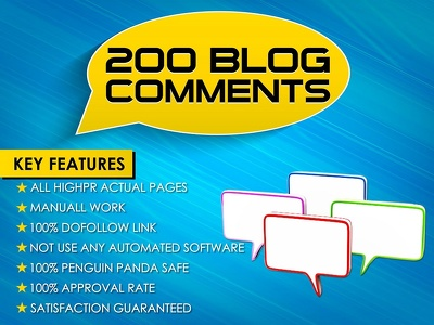 Make 200 Blog Comments on High PR