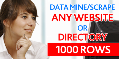 Data mine/scrape any website or directory