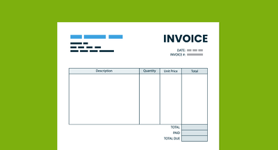 Design your business Invoice template