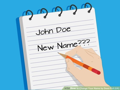 Draft a Change of Name Deed